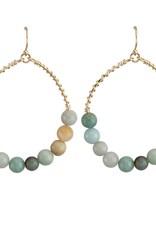 Jewelry Jemology Beaded Hoop Earring
