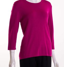 Erin London Crew Neck Fuschia
