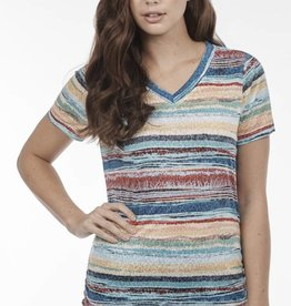 French Dressing Sunrise Stripe Top