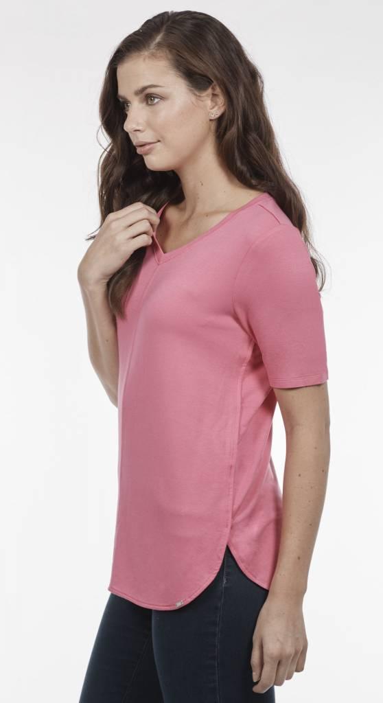 French Dressing V Neck Short Sleeve Top