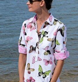 Dizzy Lizzie Cannes Shirt Butterflies