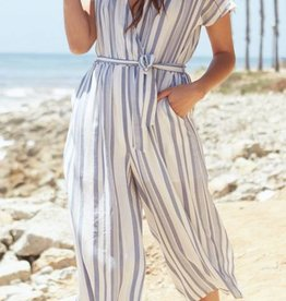 Lost and Wander Stripe Jumpsuit