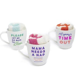 Two's Company Parenthood Mug & Sock Set