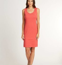 Indigenous Double Layer Tank Dress Coral