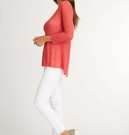 Indigenous Sheer Pullover Coral
