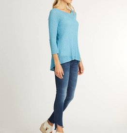 Indigenous Sheer Pullover Turquoise