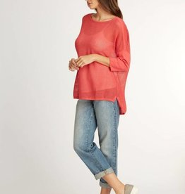 Indigenous Mesh Pullover Coral