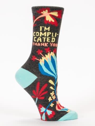 Blue Q Womens Sock Im Complicated