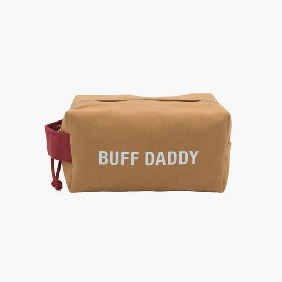 About Face Mens Dopp Bag Buff Dad
