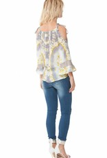 Hale Bob Ilia Cold Shoulder Top