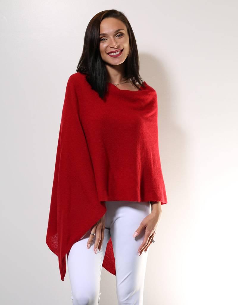 Alashan Cashmere Topper Crimson