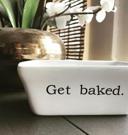 Buffalovely Get Baked Mini Ceramic Loaf Pan