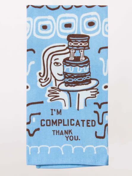 Blue Q I'M COMPLICATED. THANK YOU DISH TOWEL