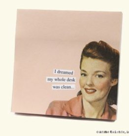Anne Taintor Sticky Notes Clean Desk