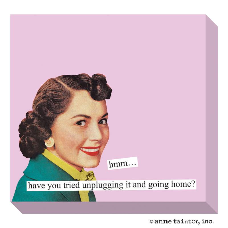 Anne Taintor Sticky Notes Unplugging