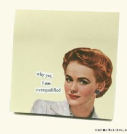Anne Taintor Anne Taintor Sticky Notes Overqualified