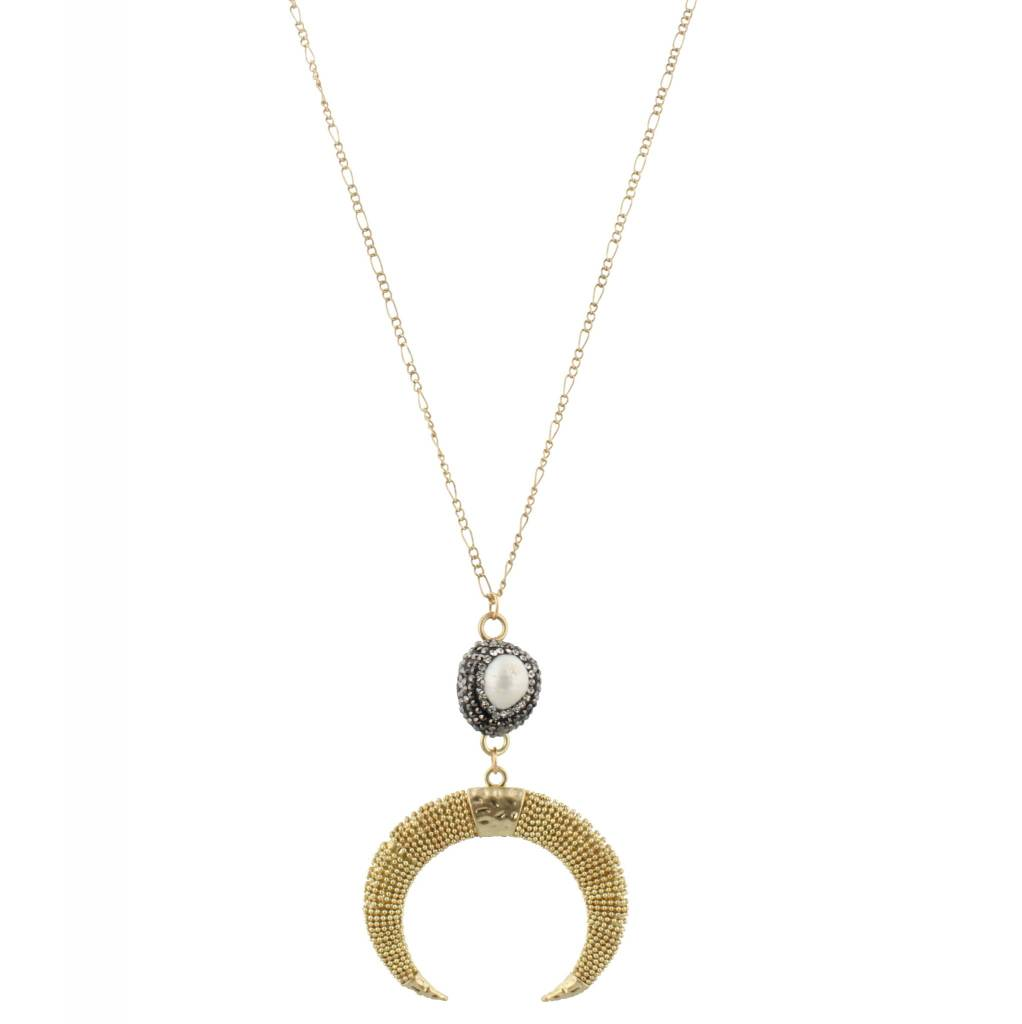 "Jane Marie 32"" Necklace Pave Pearl"