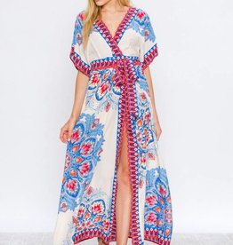 Flying Tomato Flying Tomato Maxi Dress with Tie Ivory