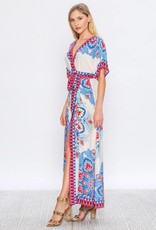 Flying Tomato Maxi Dress with Tie Ivory