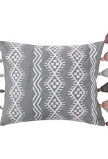 Levtex Grey Tassel Pillow