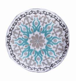 Levtex Grey Round Stitch Pillow