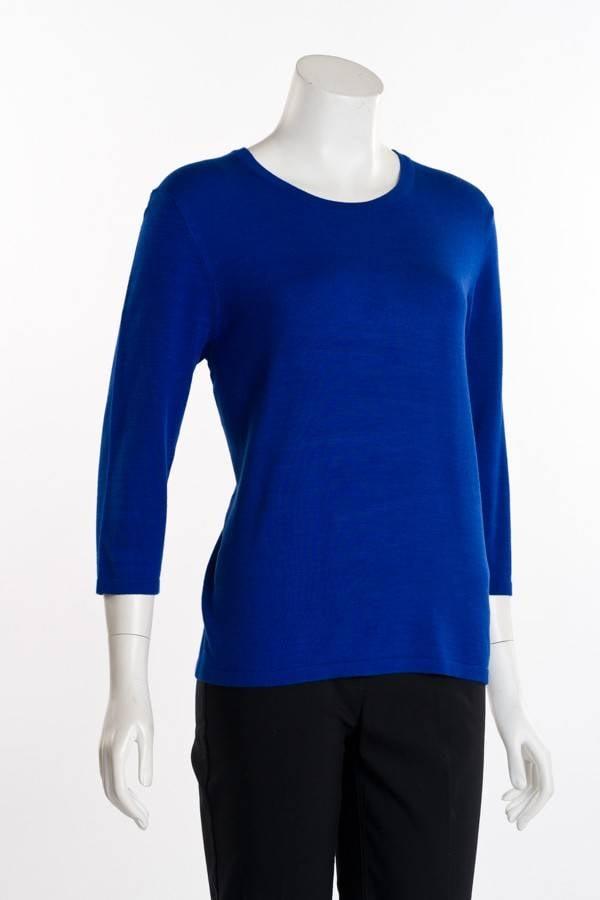 Erin London 3/4 Sleeve Crew Neck Winsor Blue