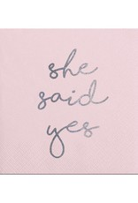 Slant She Said Yes Napkin 20 Ct