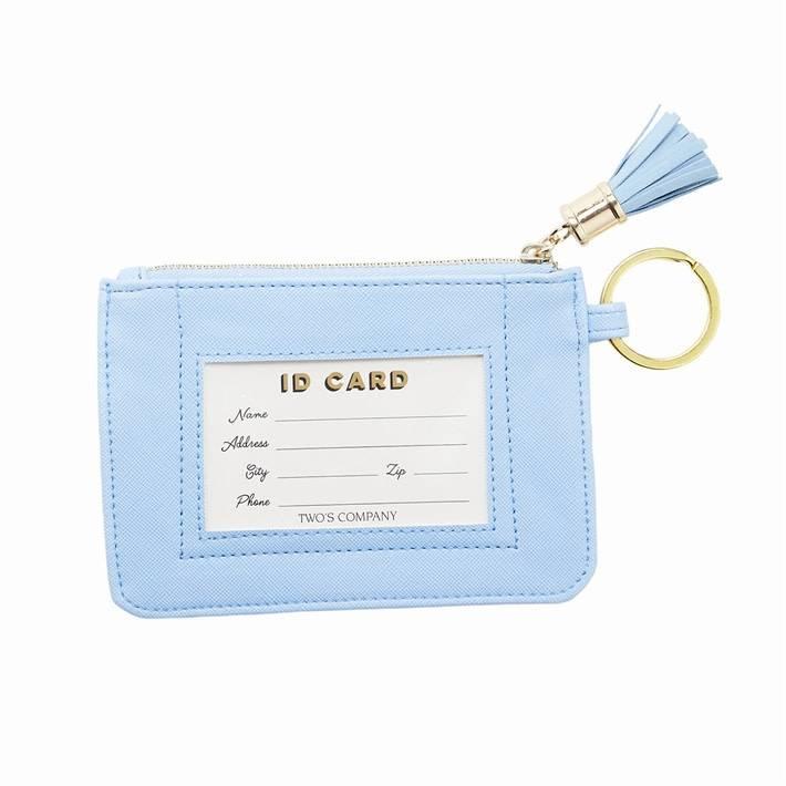 Two's Company ID Pouch w/ Tassel & Key Ring