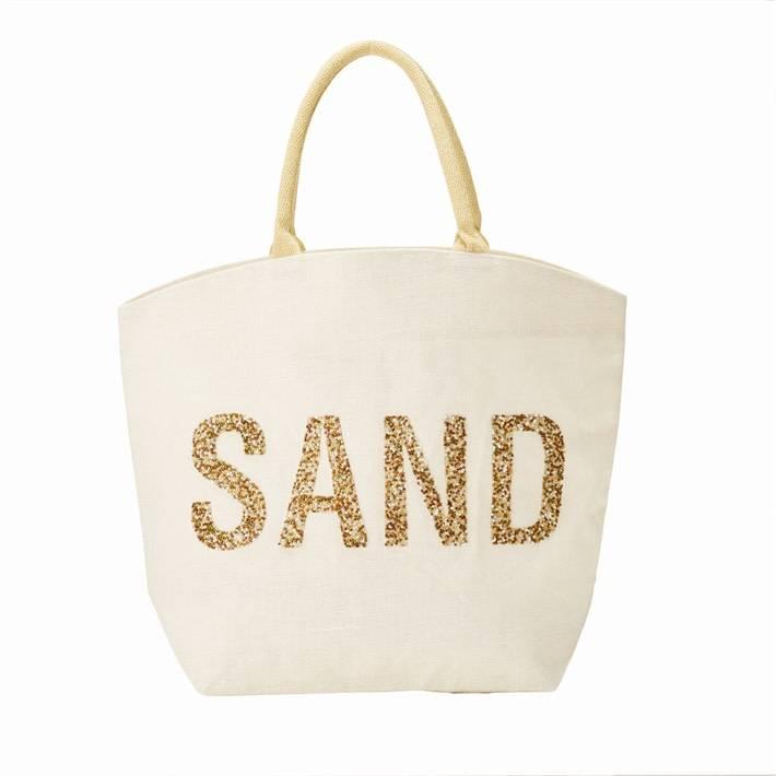 Two's Company Beaded Jute Bag