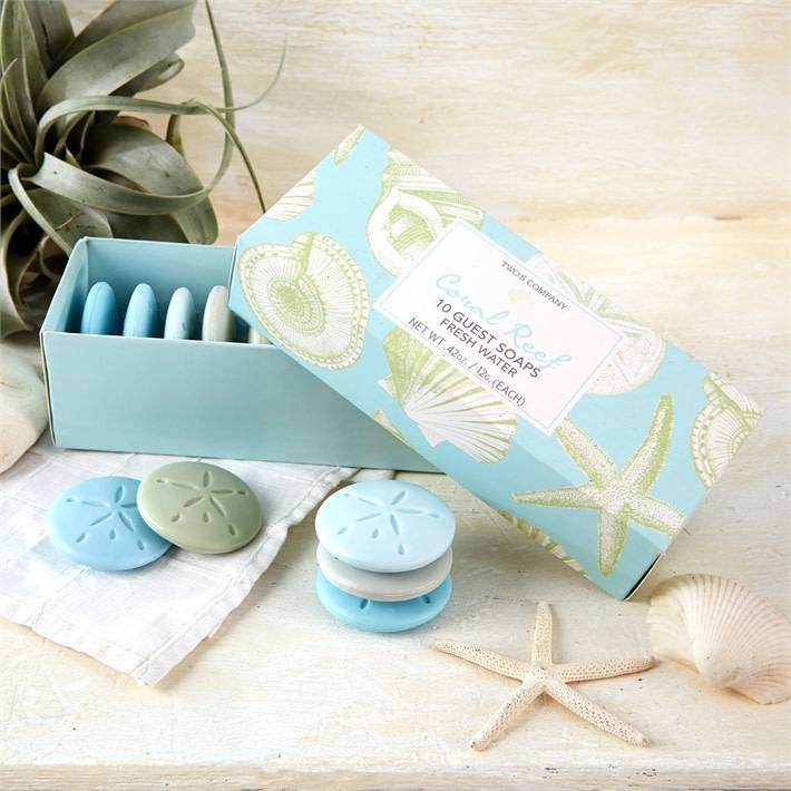 Two's Company Coral Reef Set of 10 Freshwater Soaps