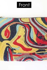 Marbling Multicolored Clutch
