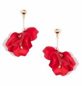 Zenzii Painted Petals Earring Red