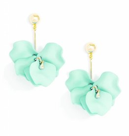 Zenzii Painted Petals Earring Mint