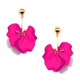 Zenzii Painted Petals Earring Pink