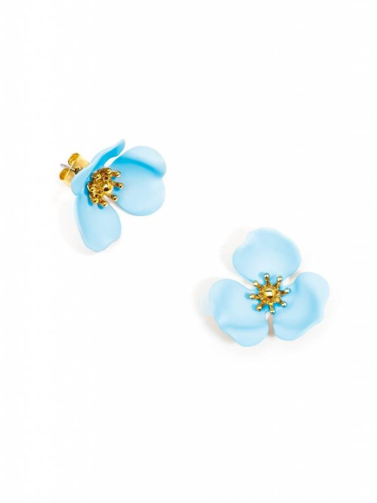 Zenzii Blooming Lotus Earring Light Blue
