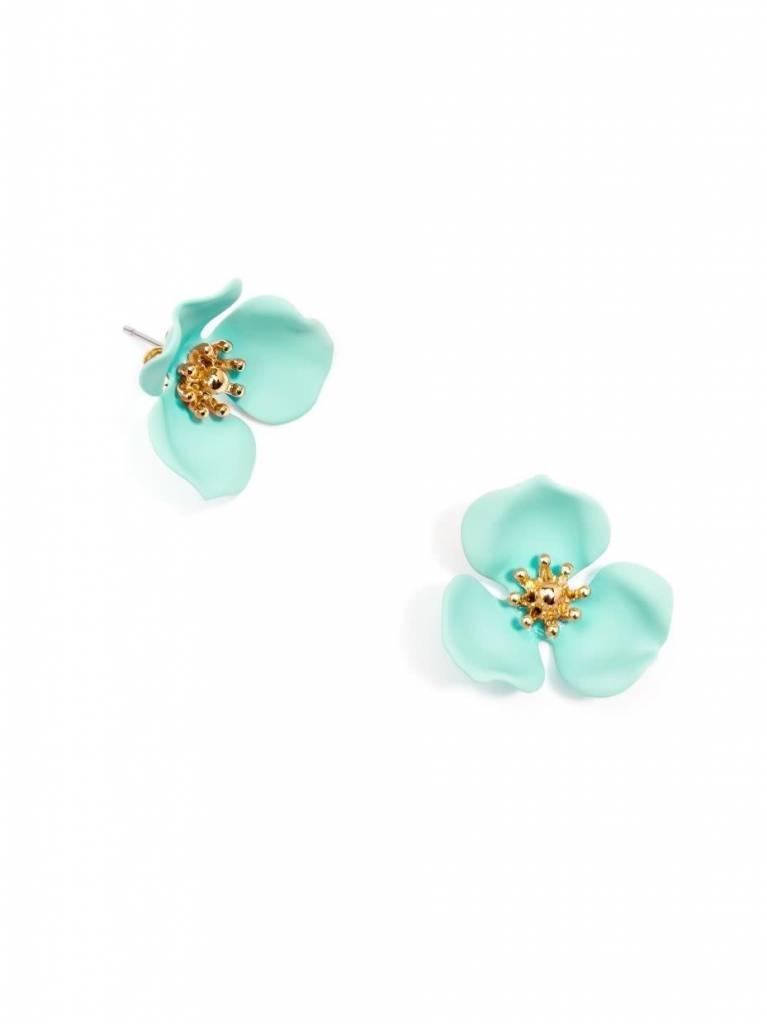 Zenzii Blooming Lotus Earring Mint