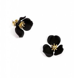 Zenzii Blooming Lotus Earring Black