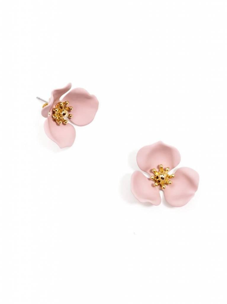 Zenzii Blooming Lotus Earring Rose