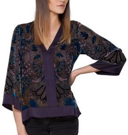 Hale Bob Eli Velvet Burnout Top Purple