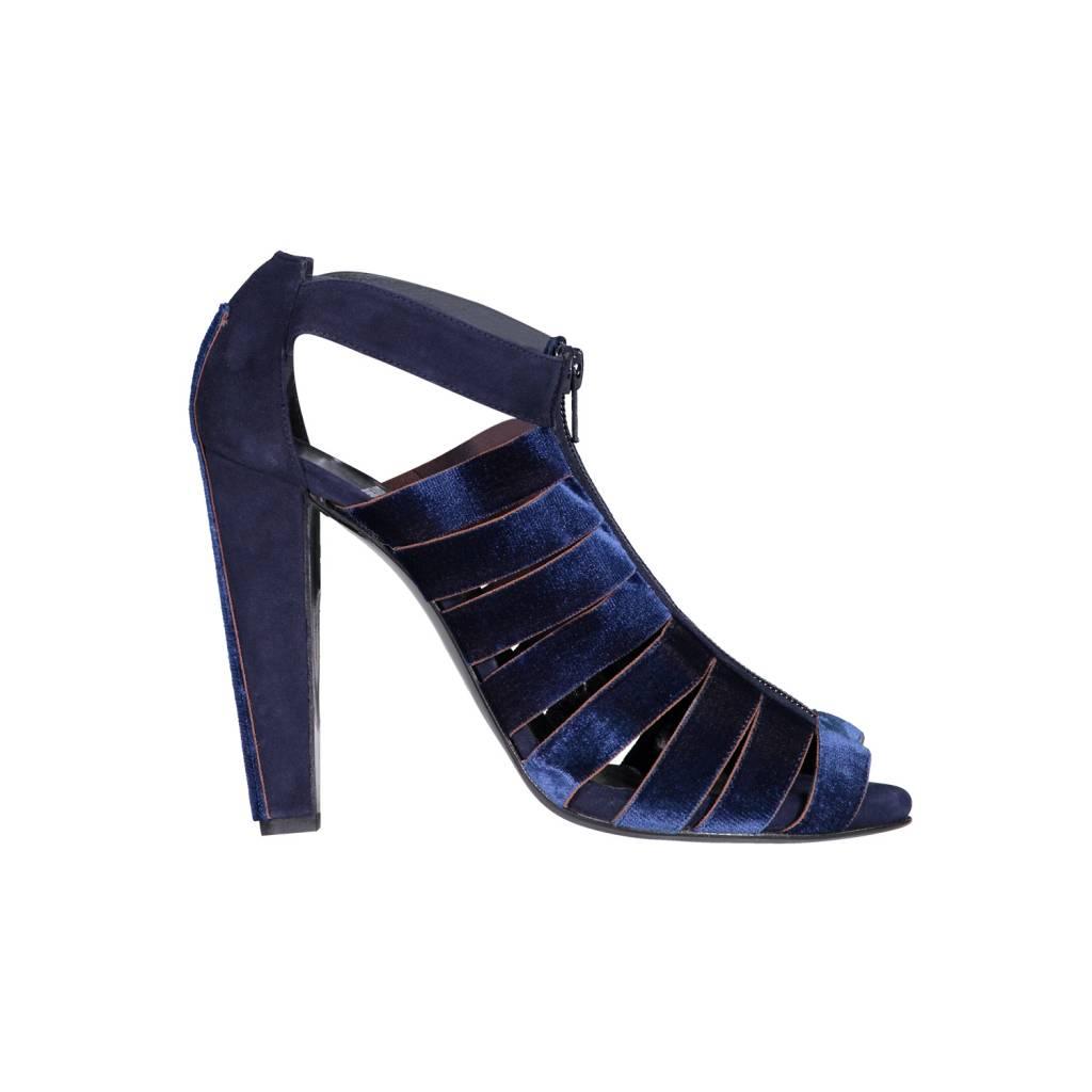 Pierre Hardy Navy Velvet Heels