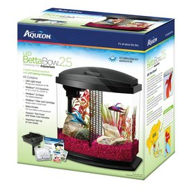 Aqueon Aqueon LED BettaBow Aquarium 2.5 gallon, Black