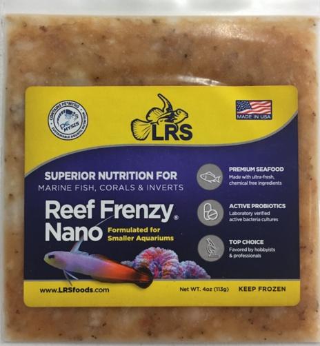 Lrs reef frenzy nano aquarium illusions inc 17211 107 for Lrs fish food