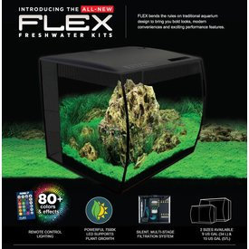 Fluval Fluval FLEX Aquarium Kit 9 gallon - Black