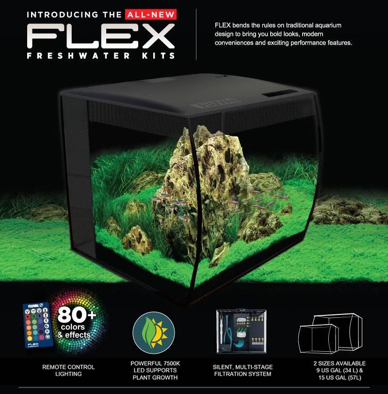 Fluval Flex Aquarium Kit 9 Gallon Black