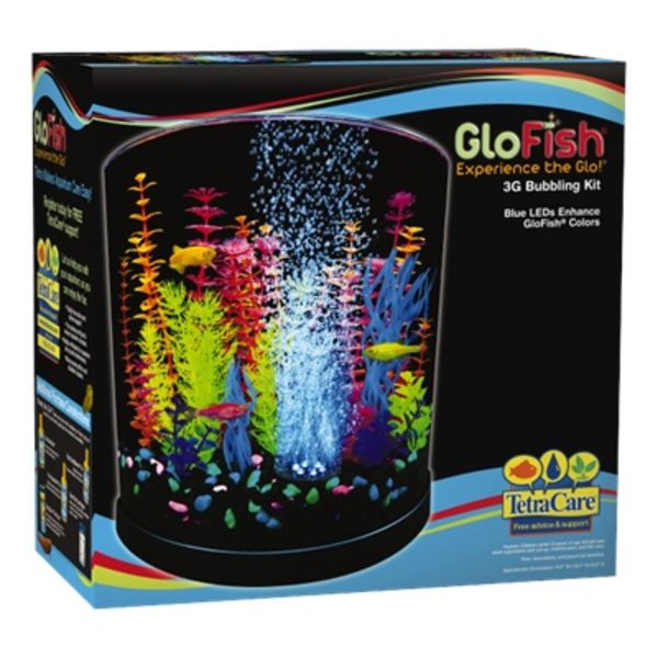 Tetra Tetra GloFish Half Moon with Blue LED Bubbler 3 gallon