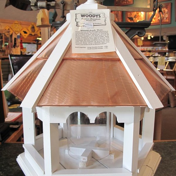 -WOODY'S PAINTED COPPER TOP GAZEBO LARGE FEEDER