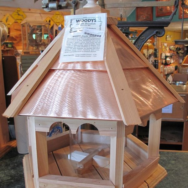 -WOODY'S PLAIN COPPER TOP GAZEBO LARGE BIRD FEEDER