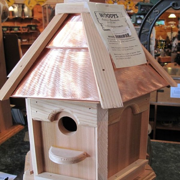 -WOODY'S PLAIN/COPPER TOP GAZEBO BIRD HOUSE