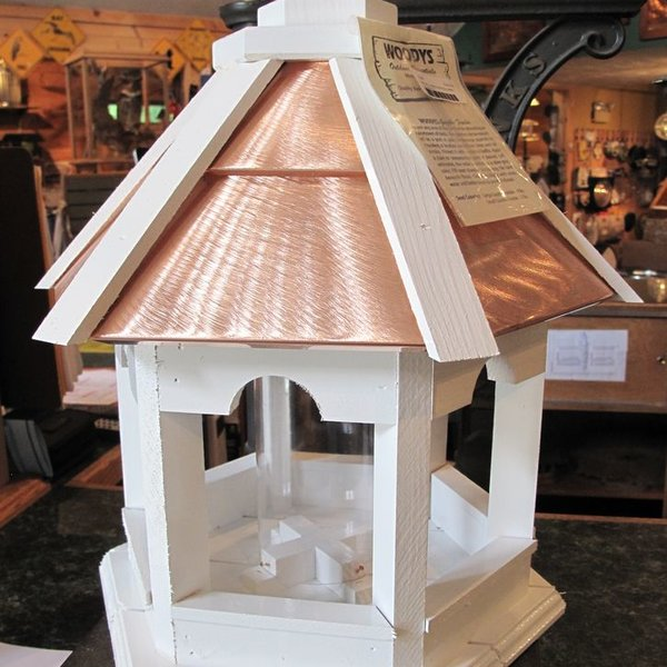 -WOODY'S SM. PAINTED COPPER TOP GAZEBO BIRD FEEDER