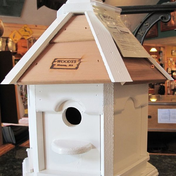 -WOODY'S PAINTED PLAIN ROOF GAZEBO BIRD HOUSE